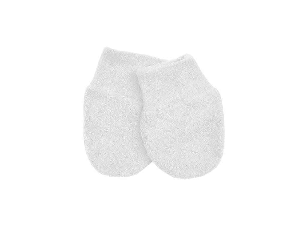 Babyrenka kojenecké rukavičky Fleece White