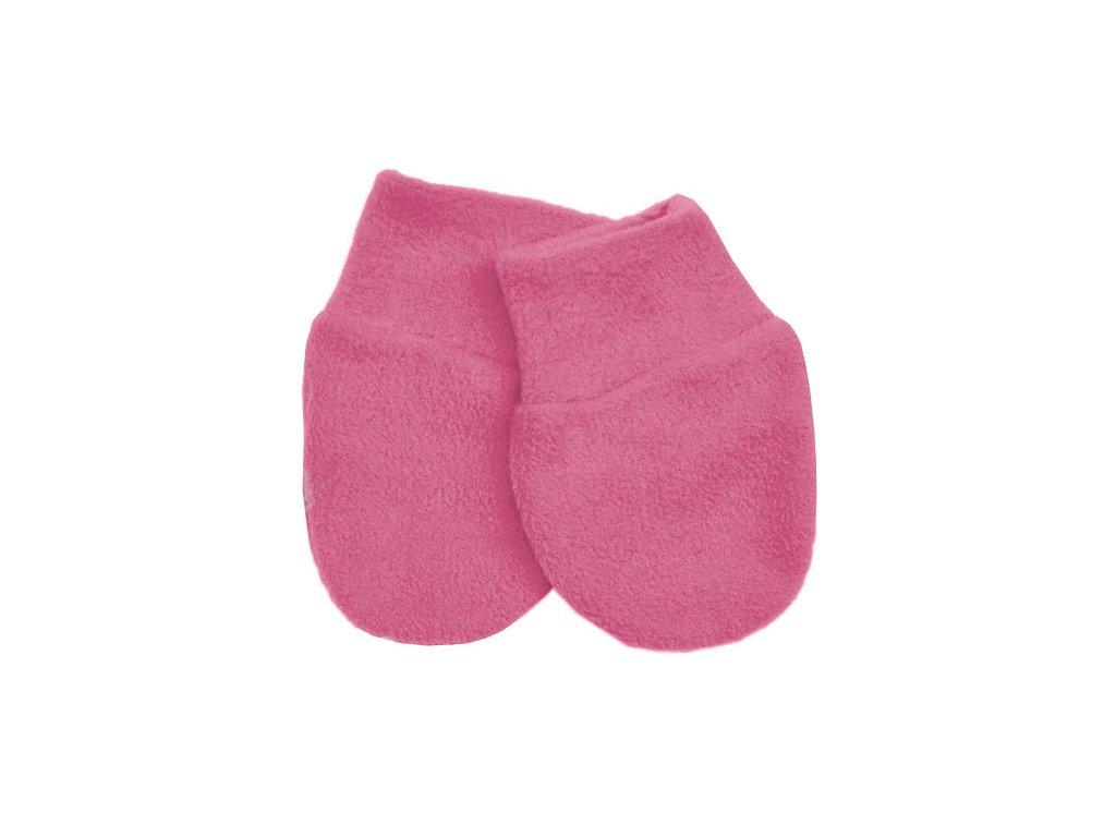 Babyrenka kojenecké rukavičky Fleece Hot Pink