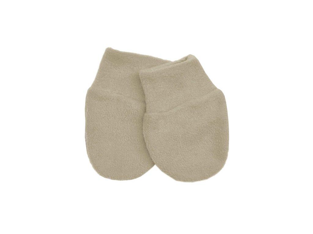 Babyrenka kojenecké rukavičky Fleece Tan