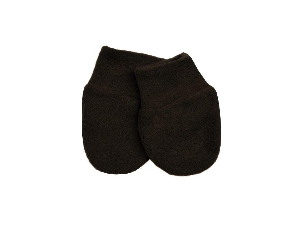 Babyrenka kojenecké rukavičky Fleece Dark Brown