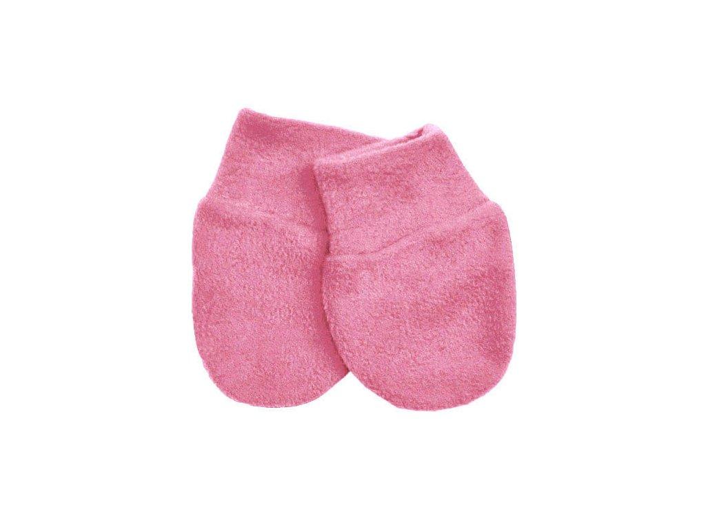 Babyrenka kojenecké rukavičky Fleece Pink