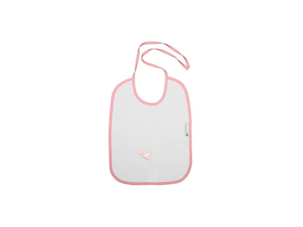 Babyrenka nepropustný bryndák zavazovací Felix pink
