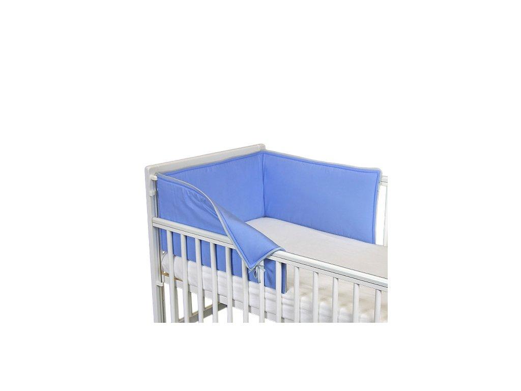 Babyrenka ochranný límec do postýlky 210 cm Uni blue