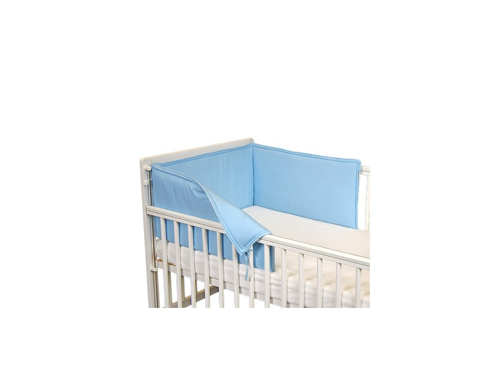 Babyrenka ochranný límec do postýlky 210 cm Uni sky blue