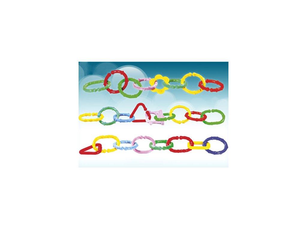 Profibaby Plastový řetěz na kočárek 8 ks barevný