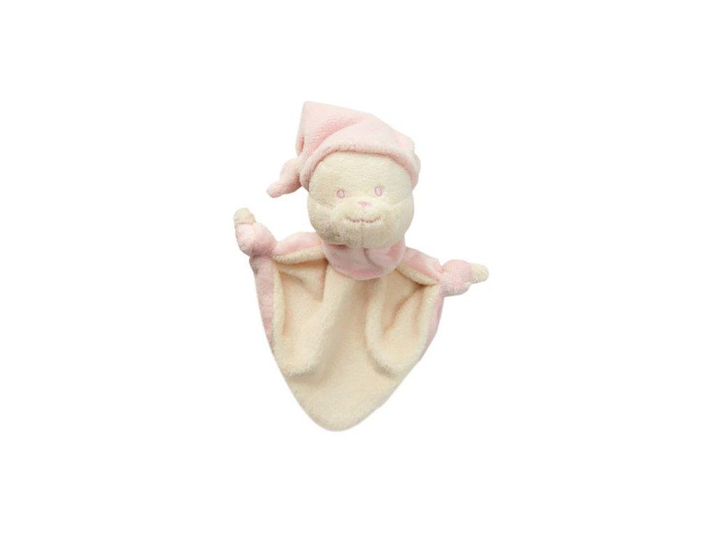 Baby Nova Mazlík medvídek růžový od 3+m