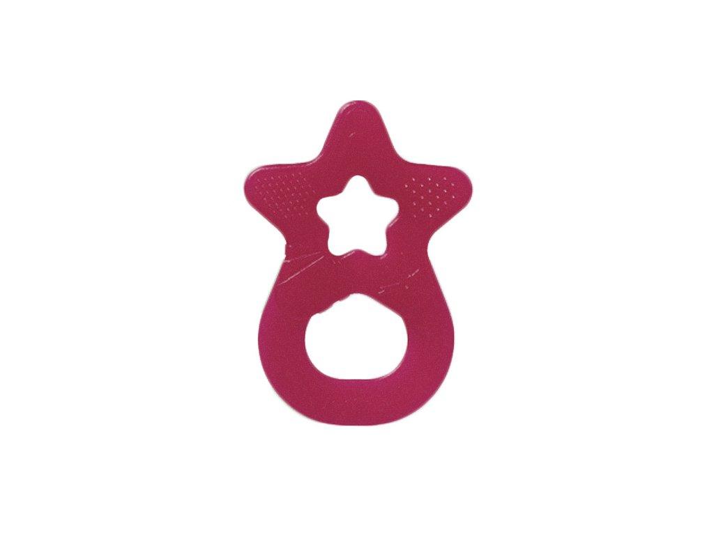 Denti Star kousátko silikonové hvězda růžová