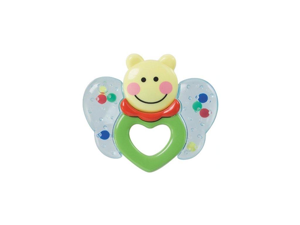 Baby Nova kousátko Motýl zelená +3m BPA FREE