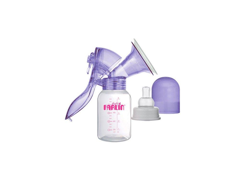 Farlin odsávačka mléka páková s 3 zásobníky mléka fialová