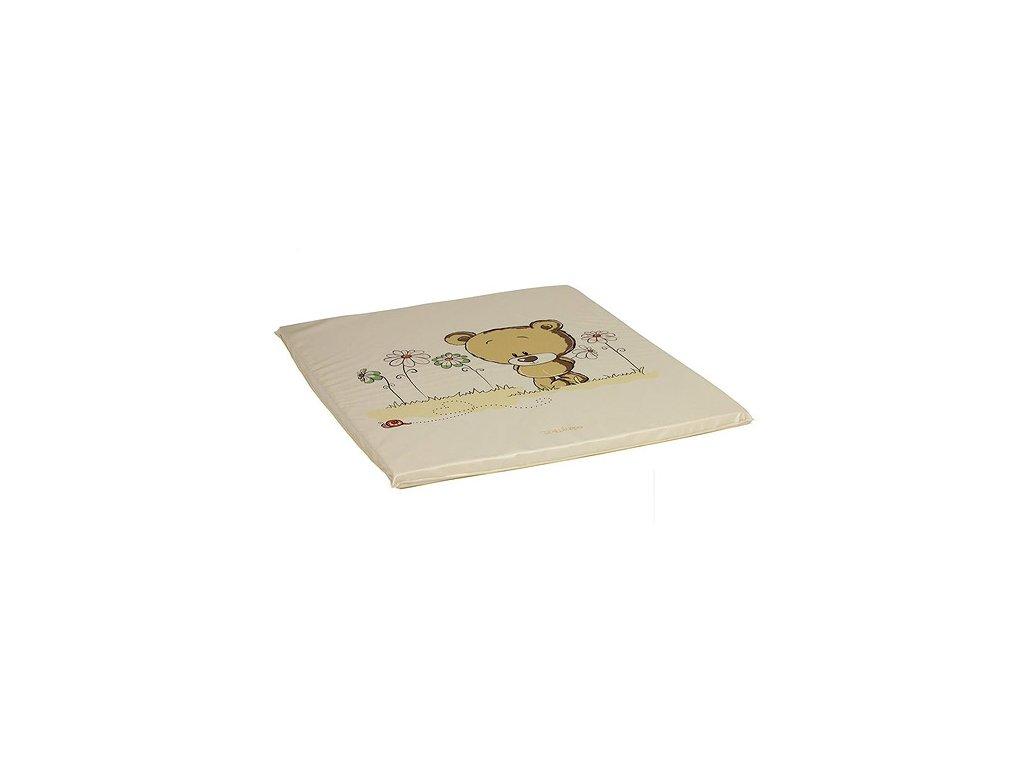 Philippo plochá přebalovací podložka 75x85 col.19 medvídek s kvítky