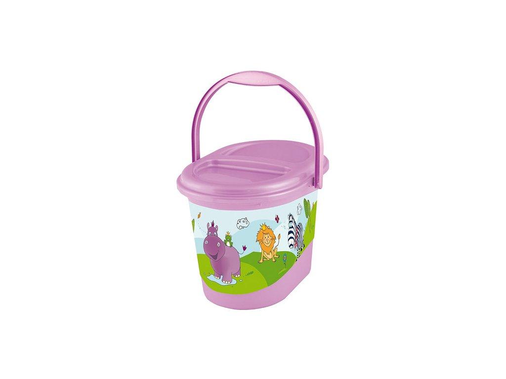 Keeeper kyblík na pleny s víkem Hippo fialový