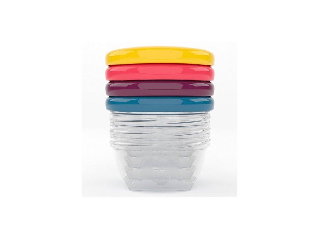 Babymoov barevné misky s víčky 120ml sada 4ks