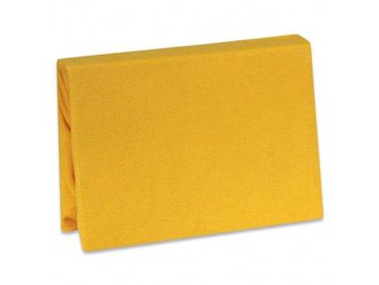 Tyimy prostěradlo 120x60 jersey tmavě žluté TMB088