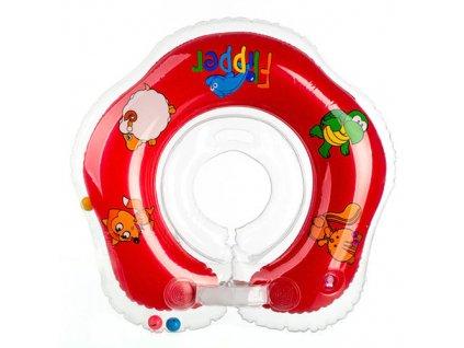 Flipper plavací nákrčník červená 0+