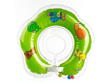 Flipper plavací nákrčník zelená 0+