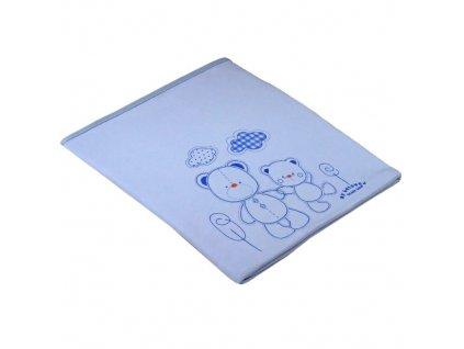 La Vida bavlněná deka 2 medvídci modrá 4251