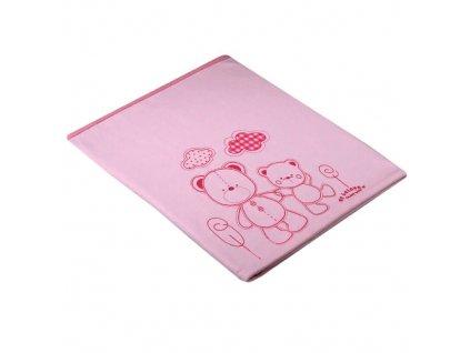 La Vida bavlněná deka 2 medvídci růžová 4265