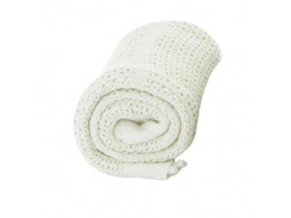 BabyDan deka háčkovaná bílá