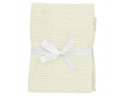 babydan hackovana deka kremova