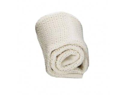 BabyDan dětská deka háčkovaná krémová
