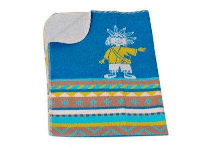 DF JUWEL bavlněná deka 70x90 indian modrý