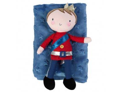 Bizzi Growin dárková deka fleece s hračkou prince ROYALPRINCEGSET