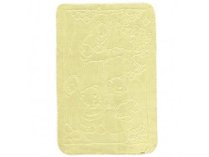 Baby Perla španělská deka 80x110 517 žlutá