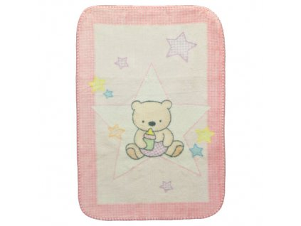 Mora deka Piccola pink 70x100 cm M612B 052