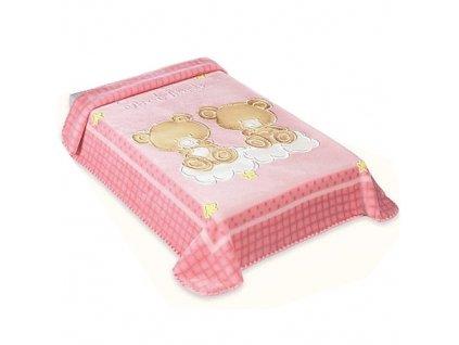 Baby Perla španělská deka 80x110 548 růžová
