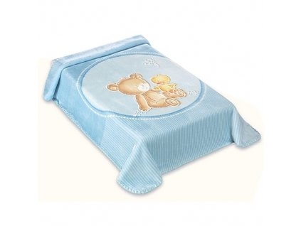 Baby Perla deka vzor 549 modrá dek549M