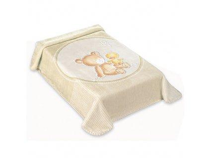 Baby Perla deka vzor 549 béžová dek549B