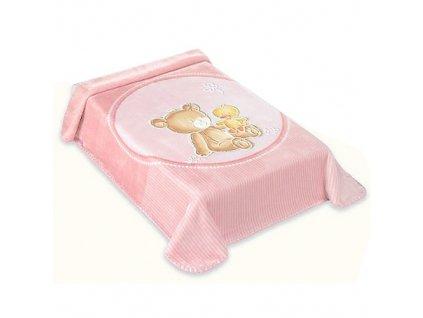 Baby Perla španělská deka 80x110 549 růžová