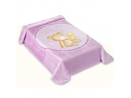 Baby Perla španělská deka 80x110 549 lila