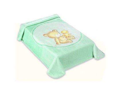 Baby Perla deka vzor 549 zelená dek549Z