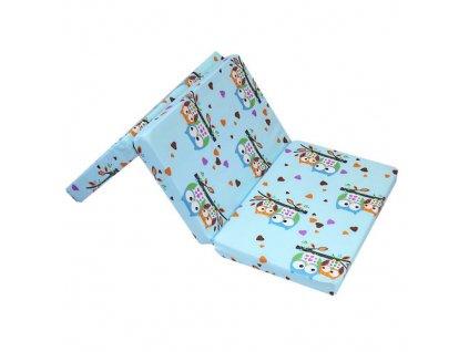 Puppolina skládací molitanová matrace 60x120 cm náhodný tisk 11070