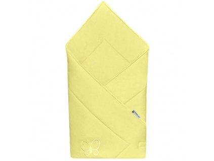 Babyrenka zavinovačka 80x80 Uni yellow s výšivkou