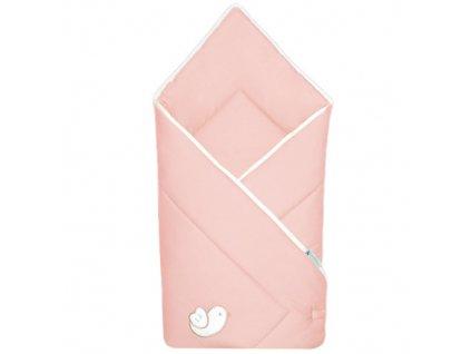 Babyrenka zavinovačka 80x80 Bird pink bílý lem