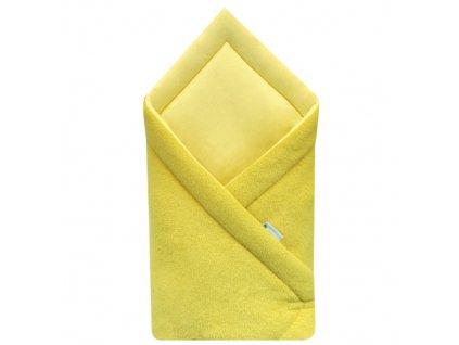 Babyrenka zavinovačka 75x75 Fleece úplet Mustard