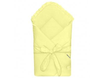 Babyrenka Zavinovačka 80x80 cm Basic s mašlí yellow