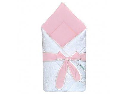Babyrenka Zavinovačka 80x80 cm s mašlí Madeira pink