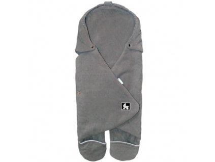 Babyrenka Zavinovačka do autosedačky Combi Fleece fleece šedá lem šedý