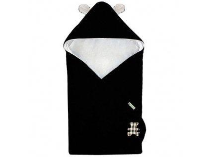 Babyrenka Zavinovačka 85x85 cm s kapucí Uši fleece úplet Panda