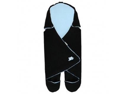 Babyrenka zavinovačka do autosedačky Basic Fleece černá modrá ZAFCM350