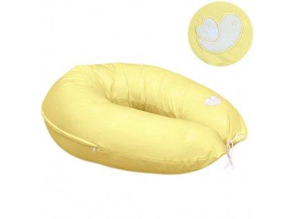 Babyrenka povlak na kojící polštář Bird yellow