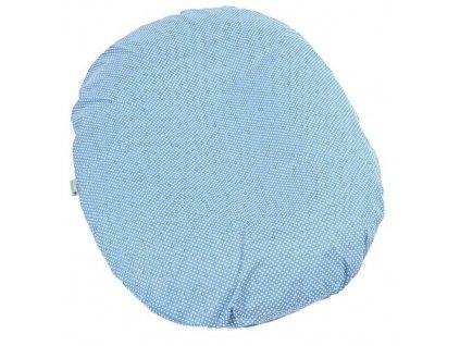 Babyrenka kojenecký relaxační polštář 80x60 cm Dots blue
