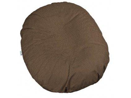 Babyrenka kojenecký relaxační polštář 80x60 cm Dots brown