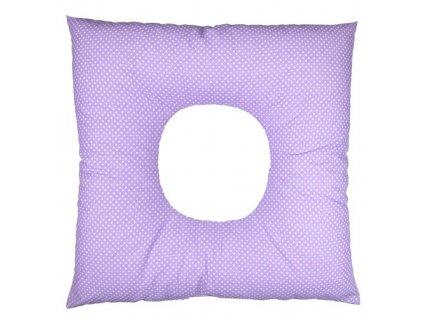 Babyrenka poporodní polštář 45x45 cm kuličky EPS Dots lila