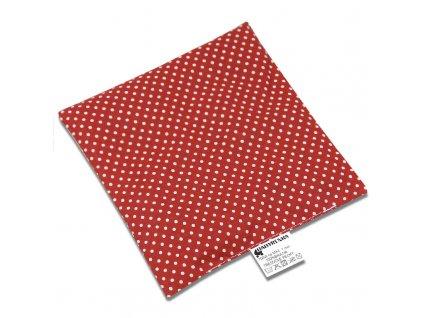 Babyrenka nahřívací polštářek 15x15 cm z třešňových pecek Dots red