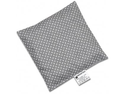 nahrivaci polstarek ctverec dots grey 2