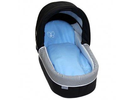 Babyrenka povlečení do kočárku Uni Sky blue s výšivkou